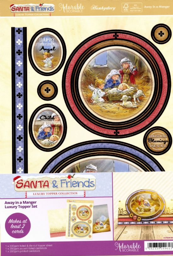 Away In A Manger - Santa & Friends Luxury Topper Set By Hunkydory